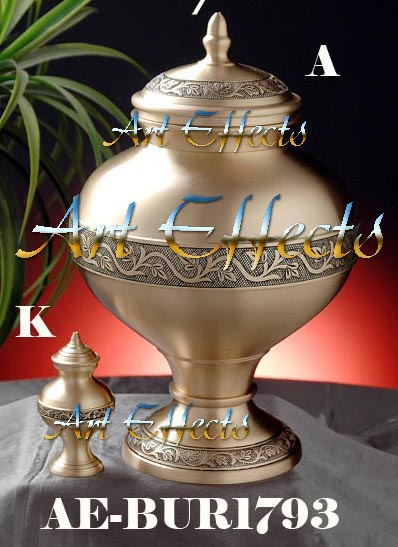 Imperial Bronze Brass Cremation Urn
